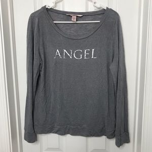 Victoria's Secret Angel Gray Long Sleeve Shirt